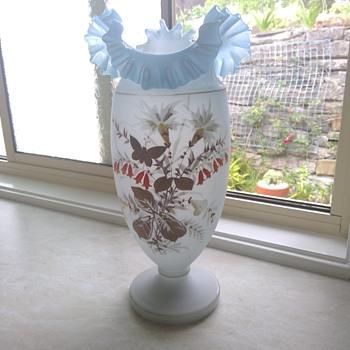 Extra large Bohemian Vase - Art Glass
