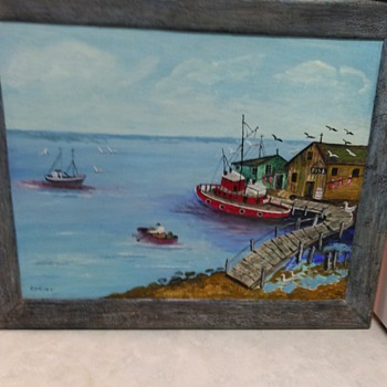BOAT OIL PAINTING - Fine Art