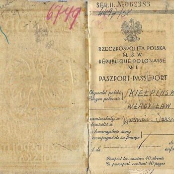 WW2 used Polish passport