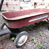 Krane Express red pull wagon
