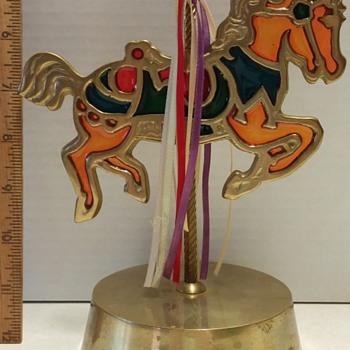 musical carousel sun-catcher pony
