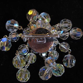 SHERMAN bead brooch match to Dawnlady1 - Costume Jewelry