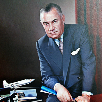 LAWRENCE DALE BELL, ( LARRY BELL ), FOUNDER OF BELL AIRCRAFT CO. -- BEST COLOR PHOTOS --  - Fine Art