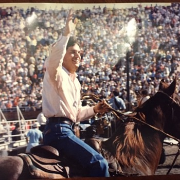 1985 George Strait Huntsville, Tx. Prison Rodeo REAL PHOTO - Music Memorabilia