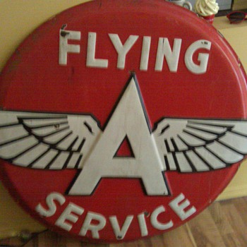 Flying A Service Sign - Signs