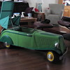 My restored 1938 tin Renault pedal car convertale