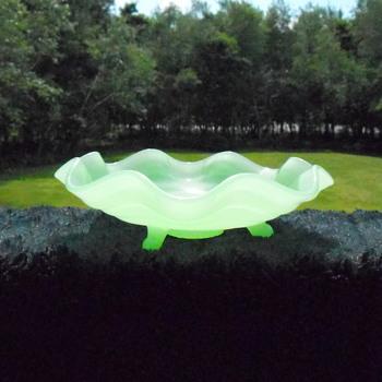 Fenton Jade Green Dish - Glassware
