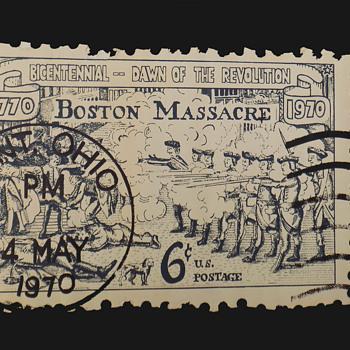 Rare Original May 4, 1970 Kent State Massacre Die-Cut Poster - Politics
