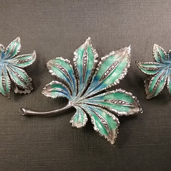 Caviness sterling leaves set  - Fine Jewelry