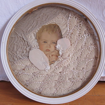 Fabric baby picture.