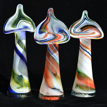 Ozark jack-in-the-pulpit vases - Art Glass