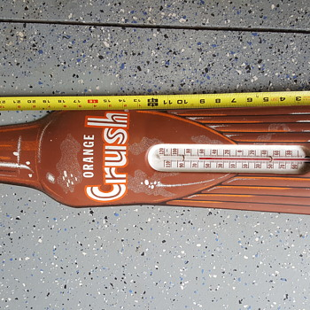 Thermometer Die Cut Bottle - Rare Amber Version - Advertising
