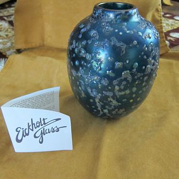 Eickholt Glass Vase ??dichroic glass??