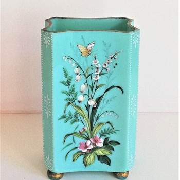 Harrach Enamelled Vase - Art Glass
