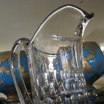 LOVELY OLD GLASS JUG c1880 - Glassware