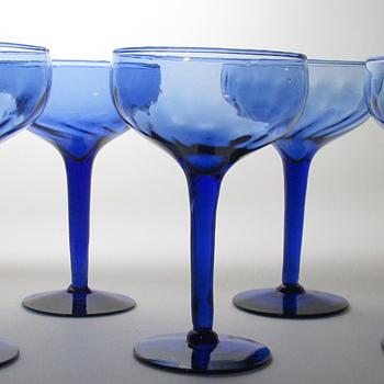 Pretty Blue Glasses - Glassware
