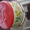 1940-1950 cake pan and plate