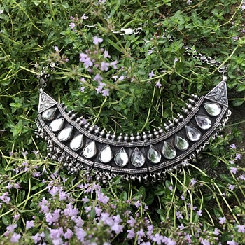 Rajasthan / India 800 silver bib necklace - Fine Jewelry