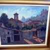 Beautiful old signed oil Village scene 'Mystery artist'?