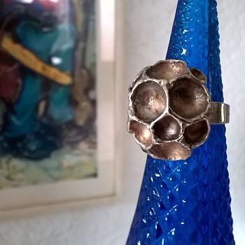 """1970s """"K&L"""" Kordes & Lichtenfels .835 Silver Modernist Ring Thrift Shop Find $9.50 - Fine Jewelry"""