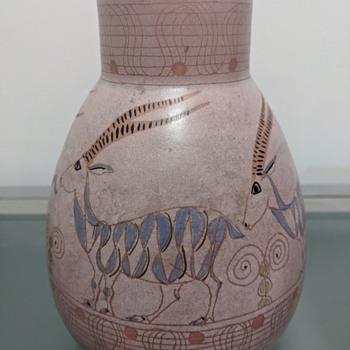 Accolay vase with 4 gazelles - Pottery