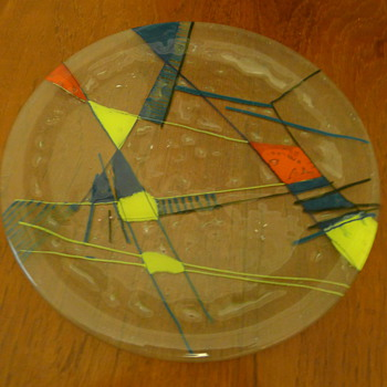 Glass platter - Art Glass