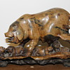 19th century Chinese Sow and piglet soapstone carving