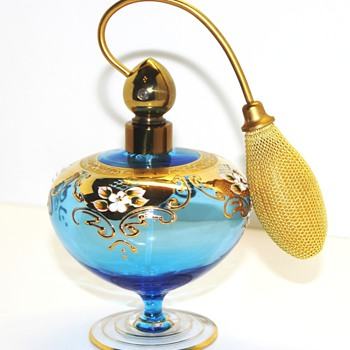 Blown Glass Perfume Atomizer Hand Painted-Made in Italy