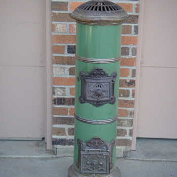 Cute little coal fire stove.  - Kitchen