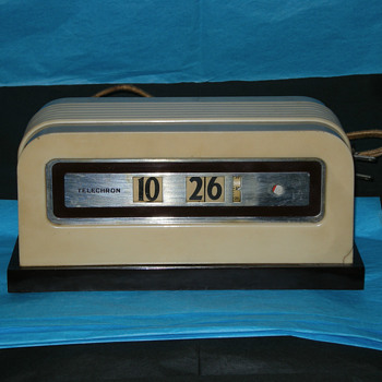 Ivory 1937-39 Telechron Model 8B07 Baron Cyclometer