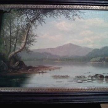 W.M.Snyder canvas oil painting - Folk Art