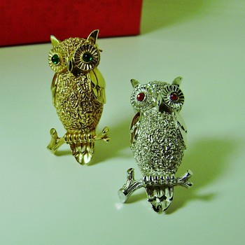 Trifari Owl Pins - Animals