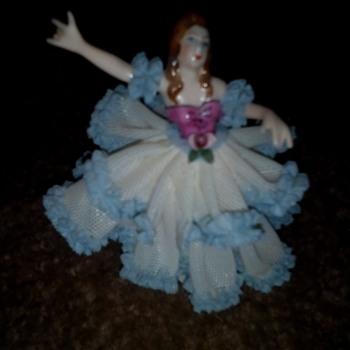 Vintage Dresden Doll #3 - Figurines