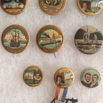 My Hudson-Fulton Collection - Medals Pins and Badges