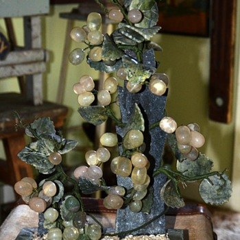 Chinese Carved Stone Grape Tree?