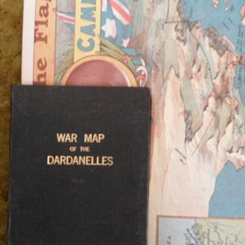 WAR MAP OF THE DARDANELLES david henry souter,for e.j.kerr