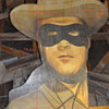 7 1/2 ft  LONE RANGER wood MOVIE BILLBOARD ? s