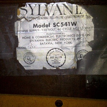 1960's Sylvania am/fm phonograph. model # SC541W