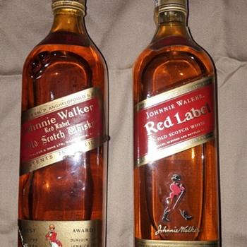 Johnnie Walker Red Label Old bottles