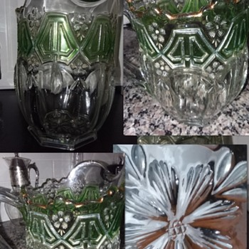 Beautiful Pitcher Floral Designs - Glassware
