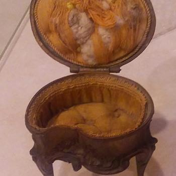 Bronze Jewelry Box And Miniature Picture Frames - Fine Jewelry