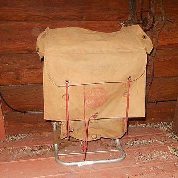 No 574 Yucca Back Pack With Frame Official Boy Scouts of America Circa 1960s. - Sporting Goods