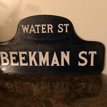 1920s Porcelain Street Corner Sign from New York City - Signs