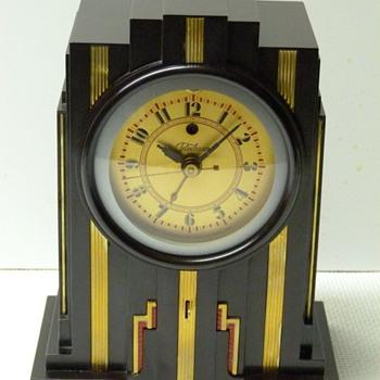 1929 30 Telechron model 700, Electrolarm Walnut Brown