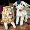 Vintage Mohair Stuffed Donkey and Lion, Unknown Maker and Period