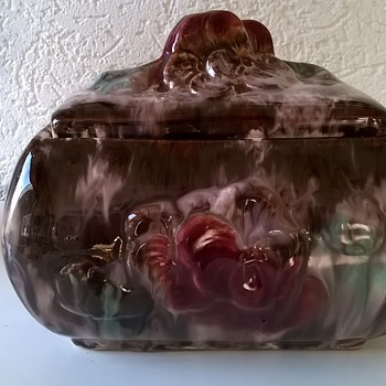 Maybe Morticia Addams Is Missing This...JASBA Germany Covered Casket Dish - Pottery