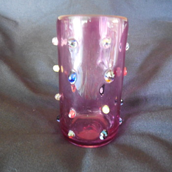 Hand Blown Art Glass Vase Signed But By Who? - Art Glass