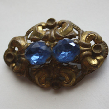 Vintage brooch II  - baby blue edition :) - Costume Jewelry