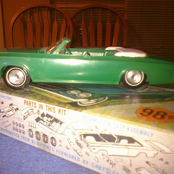 1963 Chrysler 300 convertable with original box.  Just 98 cents in 1963! - Model Cars