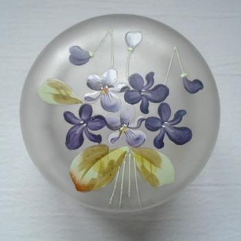 Enamelled Powder Bowl - Art Glass